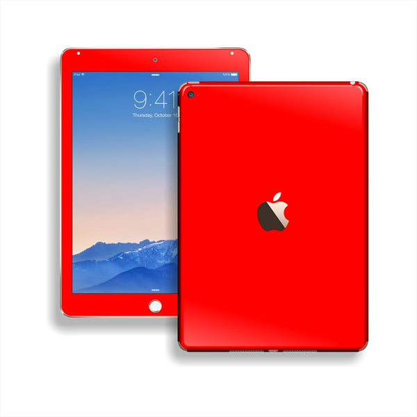 iPad Air 2 Bright Red Glossy Skin Wrap Sticker Decal Cover Protector by EasySkinz