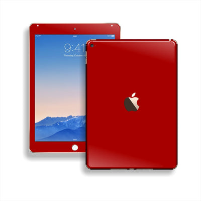 iPad Air 2 Deep Red Glossy Skin Wrap Sticker Decal Cover Protector by EasySkinz