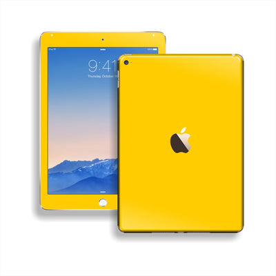 iPad Air 2 Golden Yellow Glossy Skin Wrap Sticker Decal Cover Protector by EasySkinz