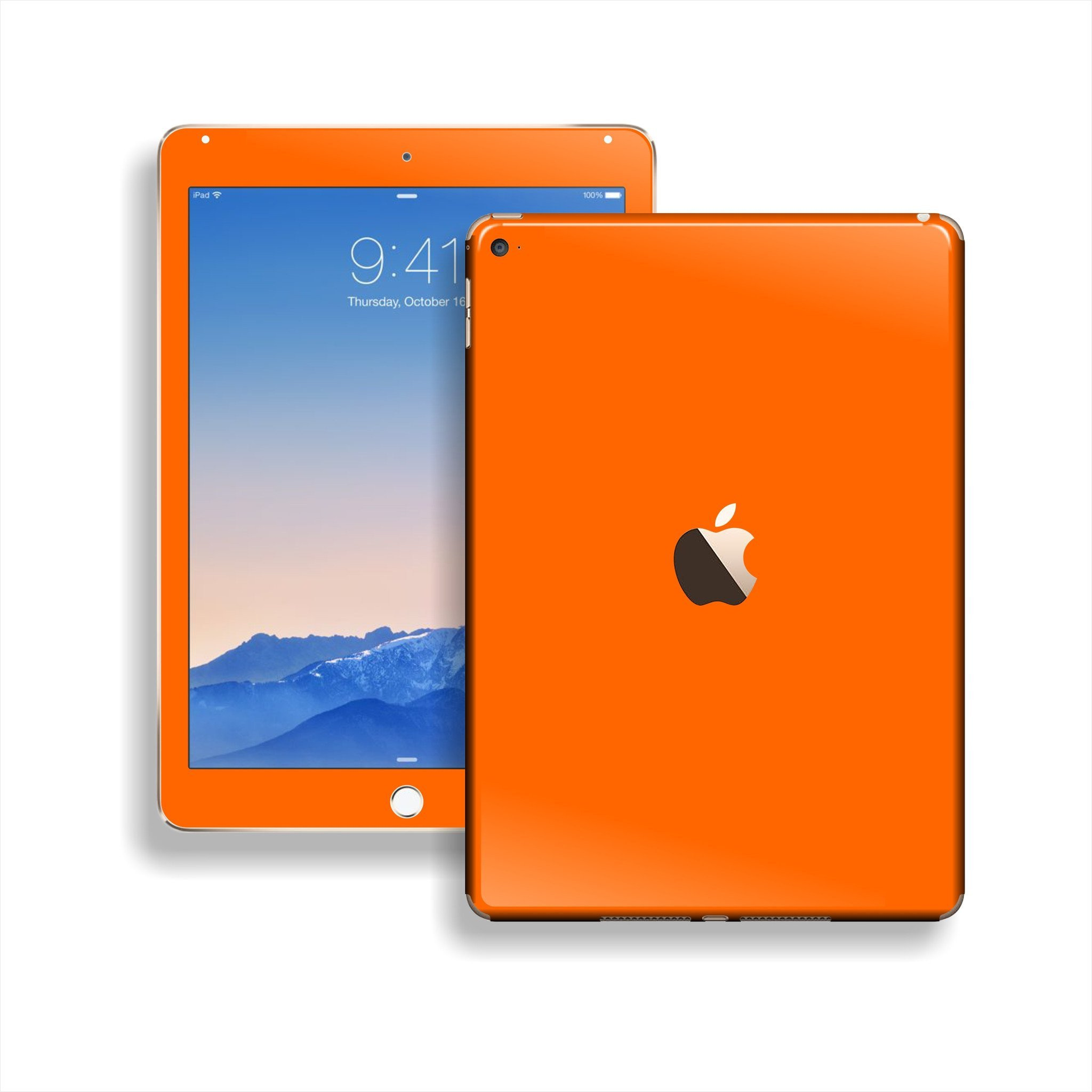 iPad Air 2 Orange Glossy Skin Wrap Sticker Decal Cover Protector by EasySkinz