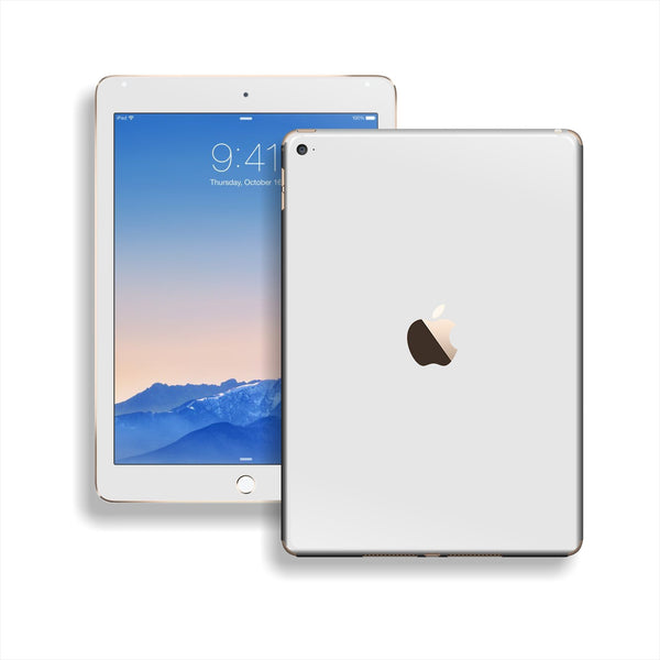 iPad Air 2 White Glossy Skin Wrap Sticker Decal Cover Protector by EasySkinz