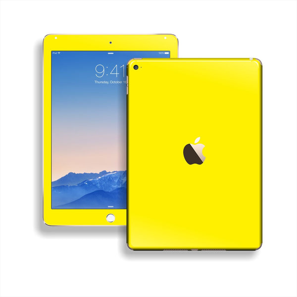 iPad Air 2 Lemon Yellow Glossy Skin Wrap Sticker Decal Cover Protector by EasySkinz