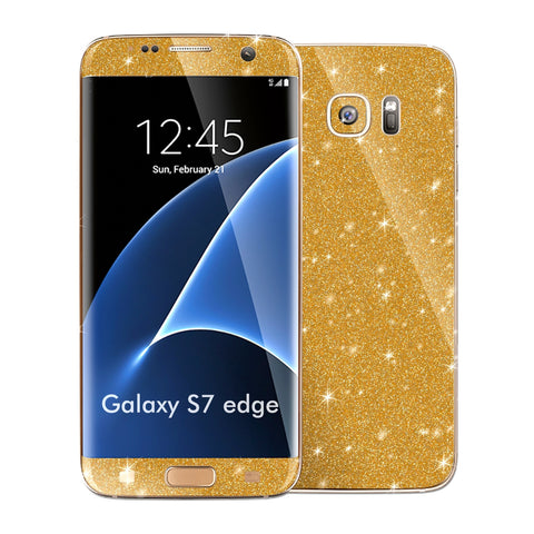 Samsung Galaxy S7 EDGE DIAMOND GOLD Skin Wrap Decal Sticker Cover Protector by EasySkinz