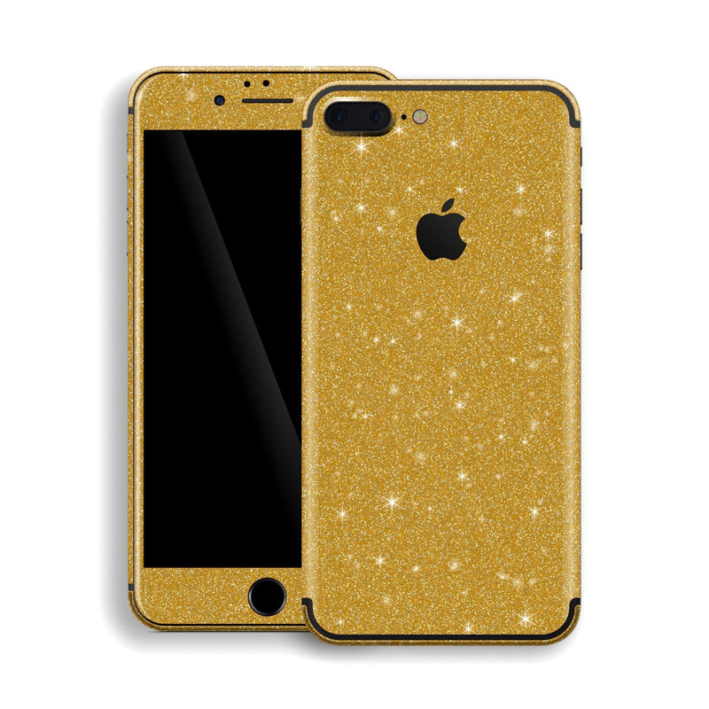 iPhone 7 Plus Diamond Gold Shimmering, Sparkling, Glitter Skin, Decal, Wrap, Protector, Cover by EasySkinz | EasySkinz.com