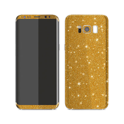 Samsung Galaxy S8+ Diamond Gold Shimmering, Sparkling, Glitter Skin, Decal, Wrap, Protector, Cover by EasySkinz | EasySkinz.com