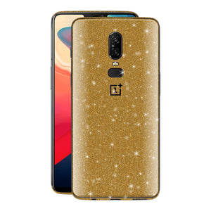 OnePlus 6 Diamond Gold Shimmering, Sparkling, Glitter Skin, Decal, Wrap, Protector, Cover by EasySkinz | EasySkinz.co
