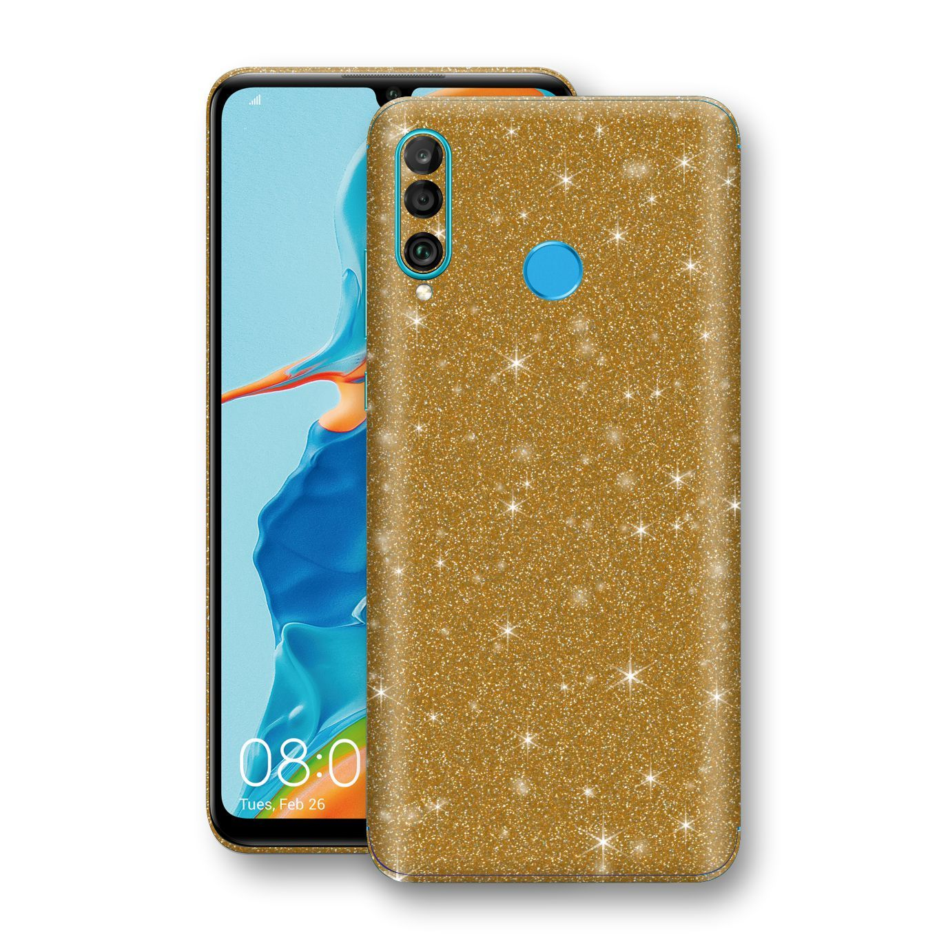 Huawei P30 LITE Diamond Gold Shimmering, Sparkling, Glitter Skin, Decal, Wrap, Protector, Cover by EasySkinz | EasySkinz.com