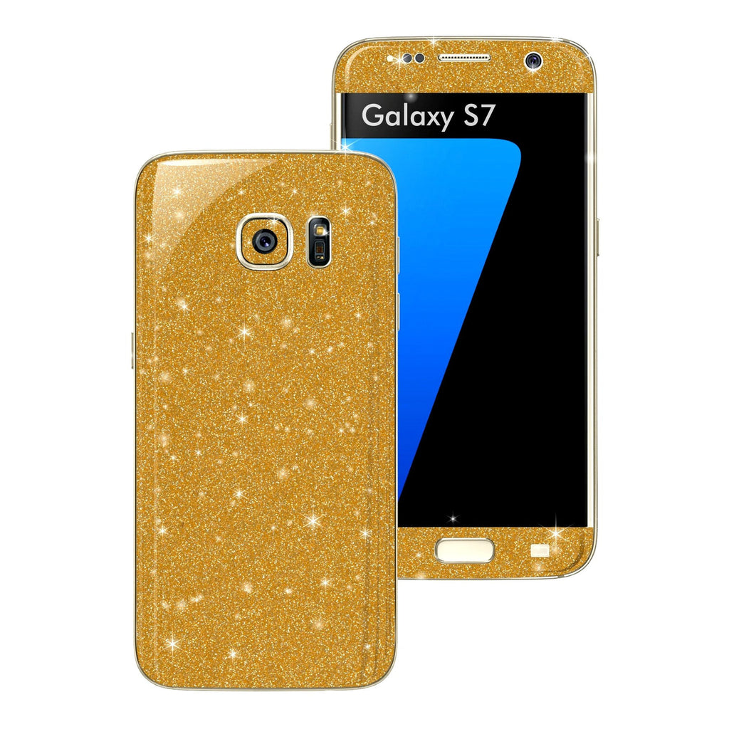 Samsung Galaxy S7 DIAMOND GOLD Skin Wrap Decal Sticker Cover Protector by EasySkinz