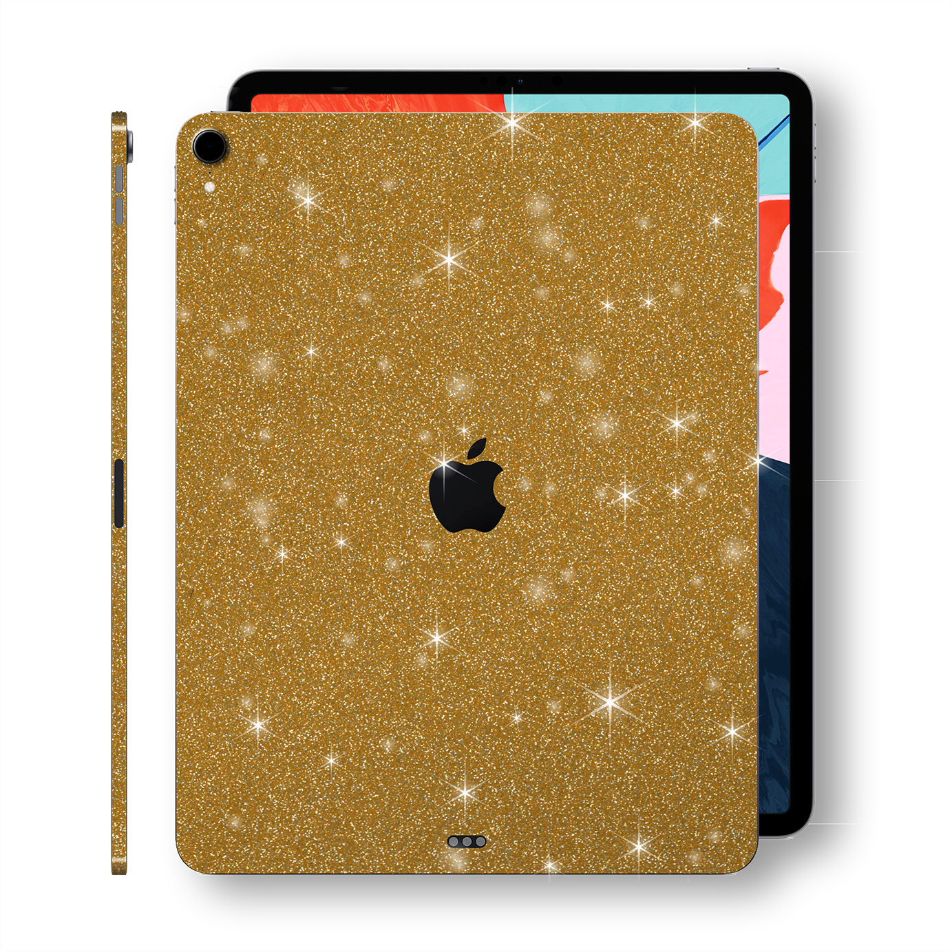 "iPad PRO 12.9"" inch 3rd Generation 2018 Diamond GOLD Glitter Shimmering Skin Wrap Sticker Decal Cover Protector by EasySkinz"