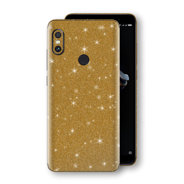 XIAOMI Redmi NOTE 5 Diamond Gold Shimmering, Sparkling, Glitter Skin, Decal, Wrap, Protector, Cover by EasySkinz | EasySkinz.com