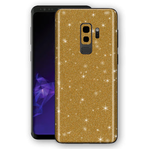 Samsung GALAXY S9+ PLUS Diamond Gold Shimmering, Sparkling, Glitter Skin, Decal, Wrap, Protector, Cover by EasySkinz | EasySkinz.com