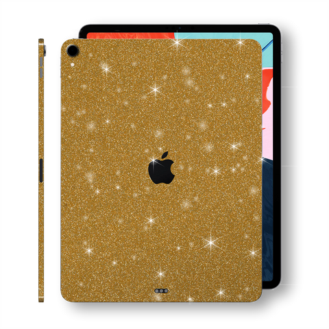 "iPad PRO 11"" inch 2018 Diamond GOLD Glitter Shimmering Skin Wrap Sticker Decal Cover Protector by EasySkinz"