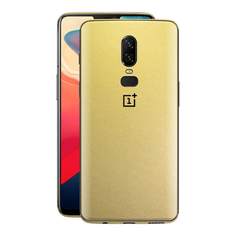 OnePlus 6 Gold Matt Metallic Skin, Decal, Wrap, Protector, Cover by EasySkinz | EasySkinz.com