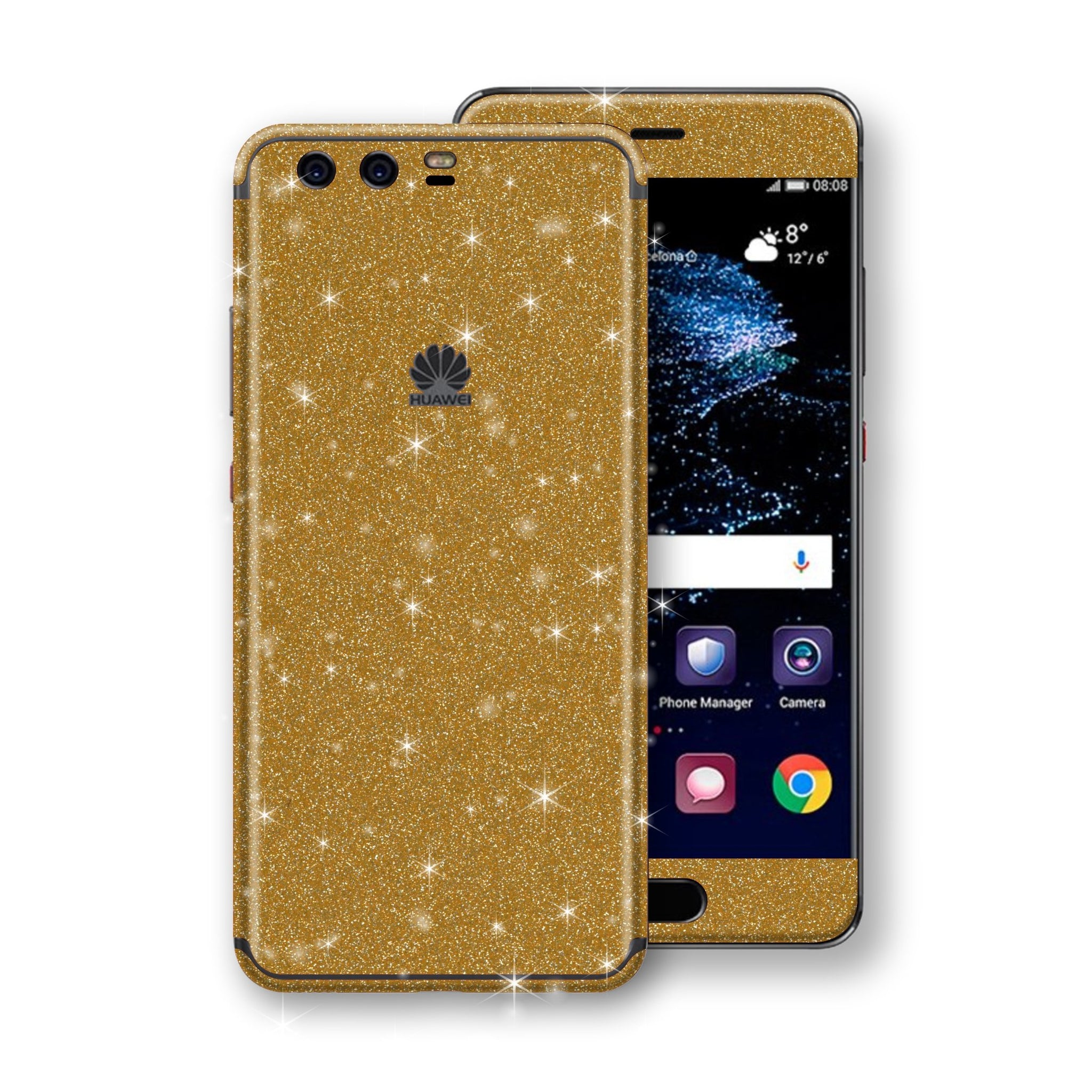 Huawei P10  Diamond Gold Shimmering, Sparkling, Glitter Skin, Decal, Wrap, Protector, Cover by EasySkinz | EasySkinz.co