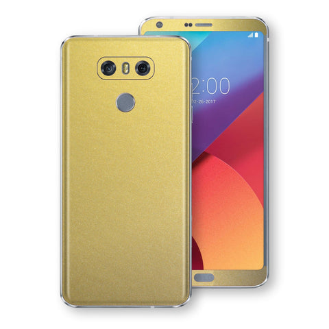 LG G6 Gold Matt Metallic Skin, Decal, Wrap, Protector, Cover by EasySkinz | EasySkinz.com