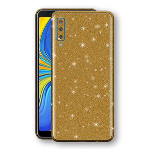 Samsung Galaxy A7 (2018) Diamond Gold Shimmering, Sparkling, Glitter Skin, Decal, Wrap, Protector, Cover by EasySkinz | EasySkinz.com
