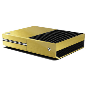 Xbox One Console Brushed GOLD Skin Wrap Sticker Decal Protector Cover by EasySkinz