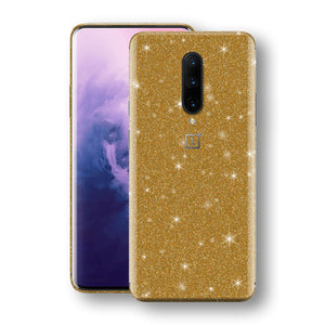 OnePlus 7 PRO Diamond Gold Shimmering, Sparkling, Glitter Skin, Decal, Wrap, Protector, Cover by EasySkinz | EasySkinz.com
