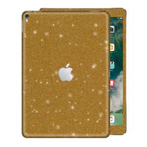 "iPad PRO 12.9"" inch 2nd Generation 2017 Diamond GOLD Glitter Shimmering Skin Wrap Sticker Decal Cover Protector by EasySkinz"