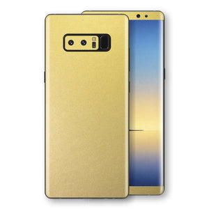 Samsung Galaxy NOTE 8 Gold Matt Metallic Skin, Decal, Wrap, Protector, Cover by EasySkinz | EasySkinz.com