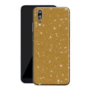 Huawei P20 Diamond Gold Shimmering, Sparkling, Glitter Skin, Decal, Wrap, Protector, Cover by EasySkinz | EasySkinz.co