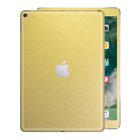 iPad 9.7 inch 2017 Matt Matte Gold Metallic Skin Wrap Sticker Decal Cover Protector by EasySkinz