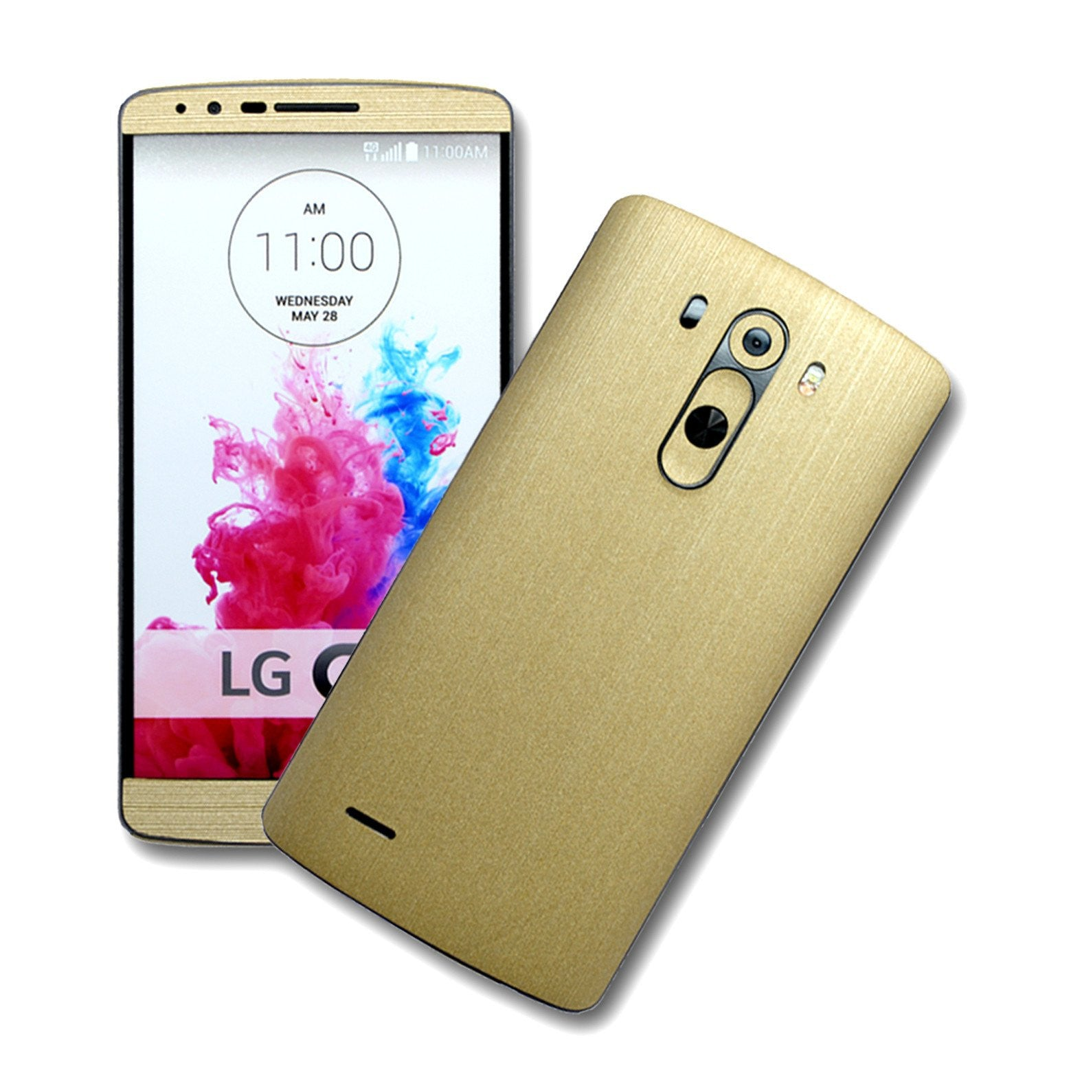 LG G3 Brushed GOLD Sticker Skin Wrap Cover Decal