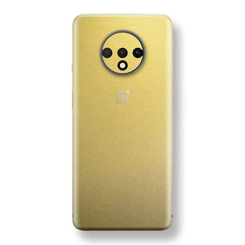 OnePlus 7T Gold Matt Metallic Skin, Decal, Wrap, Protector, Cover by EasySkinz | EasySkinz.com