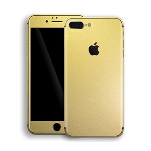 iPhone 8 Plus Gold Matt Metallic Skin, Decal, Wrap, Protector, Cover by EasySkinz | EasySkinz.com