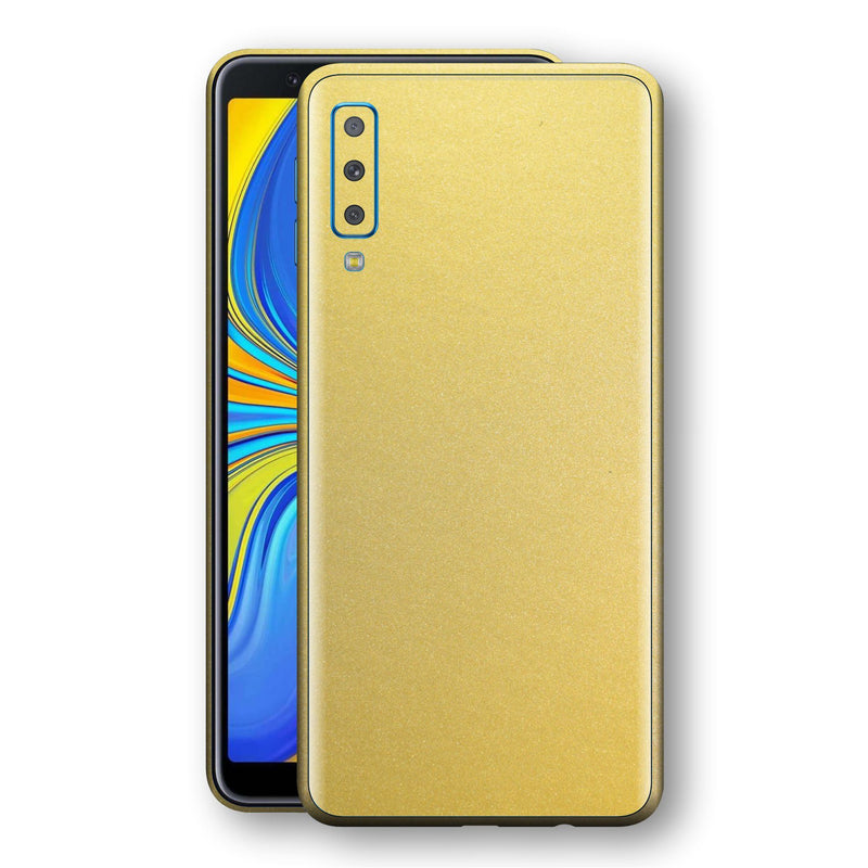Samsung Galaxy A7 (2018) Gold Matt Metallic Skin, Decal, Wrap, Protector, Cover by EasySkinz | EasySkinz.com