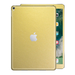 iPad PRO 10.5 inch 2017 Matt Matte Gold Metallic Skin Wrap Sticker Decal Cover Protector by EasySkinz