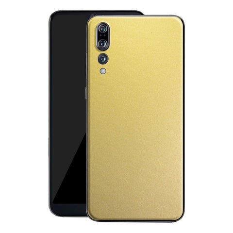 Huawei P20 PRO Gold Matt Metallic Skin, Decal, Wrap, Protector, Cover by EasySkinz | EasySkinz.com