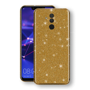 Huawei MATE 20 LITE Diamond Gold Shimmering, Sparkling, Glitter Skin, Decal, Wrap, Protector, Cover by EasySkinz | EasySkinz.com