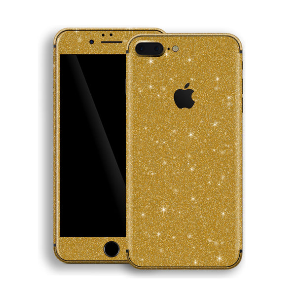 iPhone 8 Plus Diamond Gold Shimmering, Sparkling, Glitter Skin, Decal, Wrap, Protector, Cover by EasySkinz | EasySkinz.com