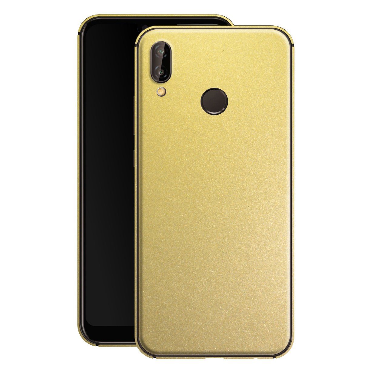 Huawei P20 LITE Gold Matt Metallic Skin, Decal, Wrap, Protector, Cover by EasySkinz | EasySkinz.com