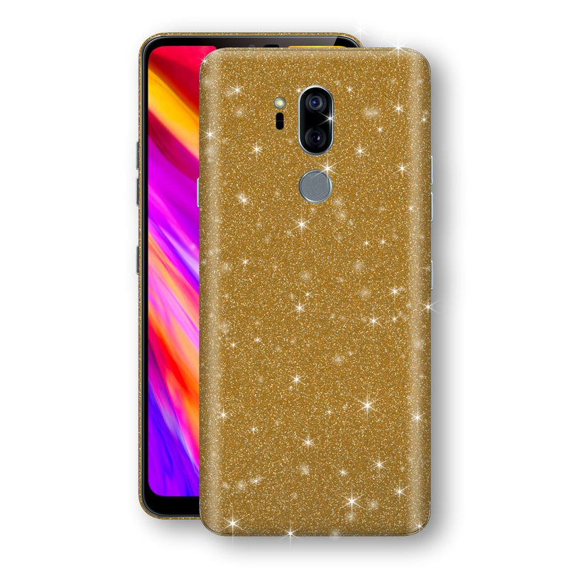 LG G7 ThinQ Diamond Gold Shimmering, Sparkling, Glitter Skin, Decal, Wrap, Protector, Cover by EasySkinz | EasySkinz.com
