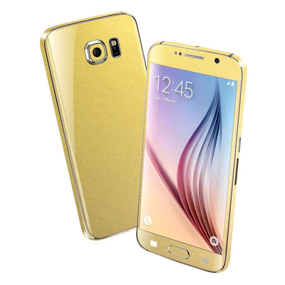 Samsung Galaxy S6 Matt Matte GOLD Metallic Skin Wrap Sticker Cover Protector Decal by EasySkinz