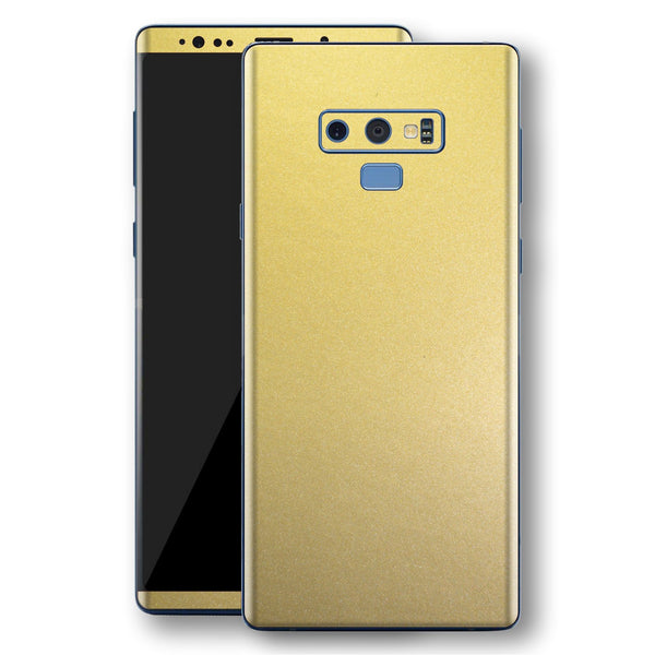 Samsung Galaxy NOTE 9 Gold Matt Metallic Skin, Decal, Wrap, Protector, Cover by EasySkinz | EasySkinz.com
