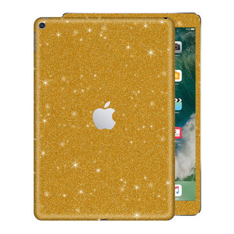 "iPad 9.7"" inch 5th Generation 2017 Diamond Gold Glitter Shimmering Skin Wrap Sticker Decal Cover Protector by EasySkinz"