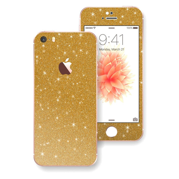 iPhone SE Diamond Gold Skin Wrap Decal Sticker Protector Cover by EasySkinz