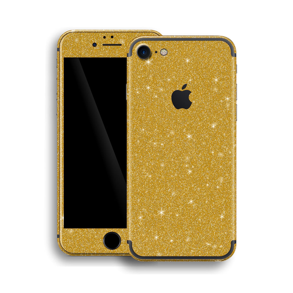 iPhone 7 Diamond GOLD Shimmering, Sparkling, Glitter Skin, Wrap, Decal, Protector, Cover by EasySkinz | EasySkinz.com