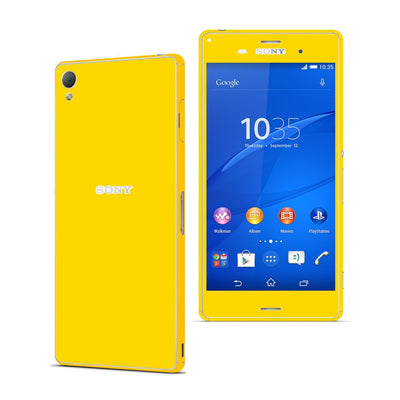 Sony Xperia Z3 Golden Yellow Glossy Skin Wrap Sticker Cover Decal Protector. By EasySkinz.