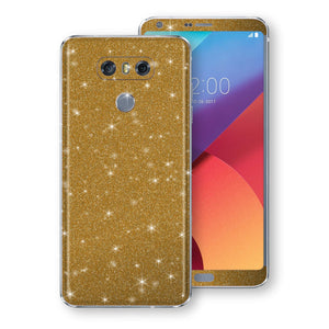 LG G6 Diamond Gold Shimmering, Sparkling, Glitter Skin, Decal, Wrap, Protector, Cover by EasySkinz | EasySkinz.com
