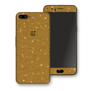 OnePlus 5 Diamond Gold Shimmering, Sparkling, Glitter Skin, Decal, Wrap, Protector, Cover by EasySkinz | EasySkinz.com