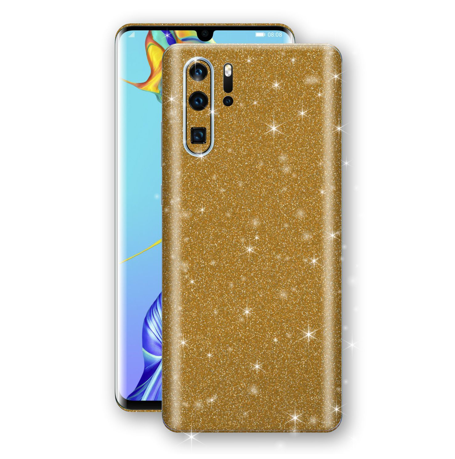 Huawei P30 PRO Diamond Gold Shimmering, Sparkling, Glitter Skin, Decal, Wrap, Protector, Cover by EasySkinz | EasySkinz.com
