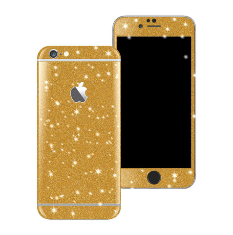 iPhone 6S Diamond GOLD Shimmering Glitter Skin Wrap Sticker Cover Decal Protector by EasySkinz