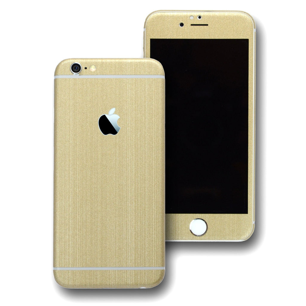 iPhone 6S Premium Brushed Champagne GOLD Skin Wrap Sticker Cover Decal Protector by EasySkinz