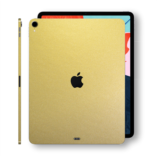 iPad PRO 11 inch 2018 Matt Matte Gold Metallic Skin Wrap Sticker Decal Cover Protector by EasySkinz