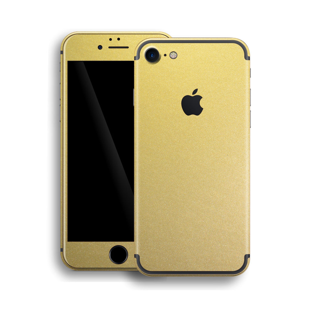 iPhone 7 Gold Matt Matte Metallic Skin, Wrap, Decal, Protector, Cover by EasySkinz | EasySkinz.com
