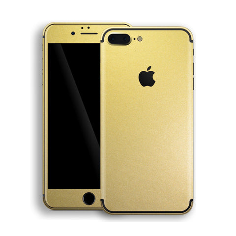 iPhone 7 Plus Gold Matt Metallic Skin, Decal, Wrap, Protector, Cover by EasySkinz | EasySkinz.com